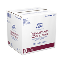 "Dynarex - Premoistened Adult Washcloths, 9"" x 13"" - Tub"