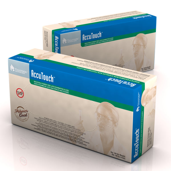 AccuTouch® Powder-Free Latex Exam Gloves