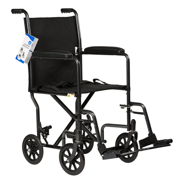 "DynaRide Transport Wheelchair 17"" Fixed Full Arm with FR"