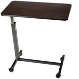 Dynarex - Low Overbed Table Non Tilt with Walnut Top