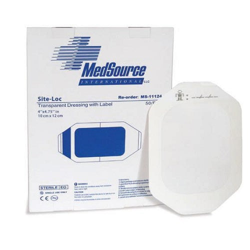 "Site-Loc Transparent Dressing, 4""x4-3/4"" Case Quantity"