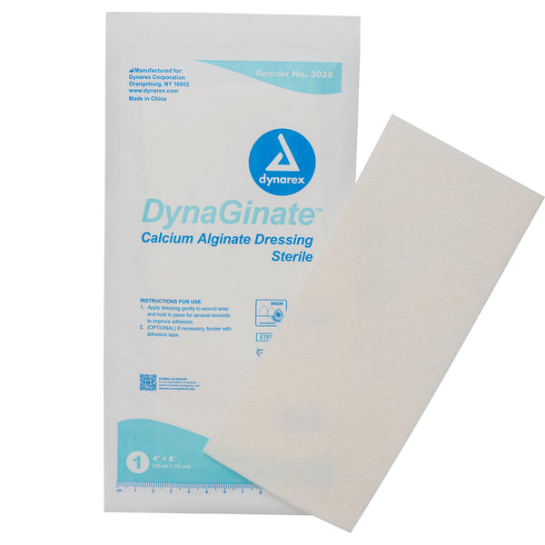 "DynaGinate Calcium Alginate Dressing - 4""x8"""