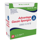 "Advantage Sterile Gauze Sponges - 4""x 4"", 12 Ply, 2 Pack"