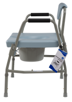 Dynarex - Bariatric Drop-Arm Folding Commode