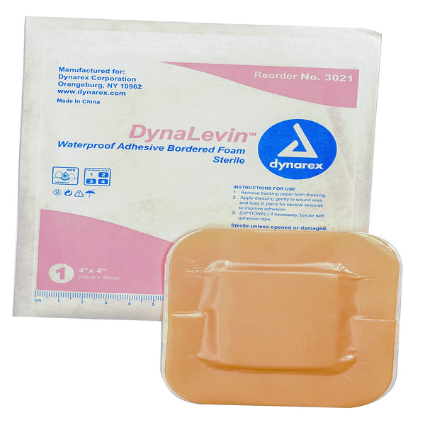 DynaLevin Waterproof Adhesive Bordered Foam Dressing