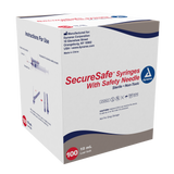 "SecureSafe Syringe with Safety Needle  - 10cc - 21G, 1.5"" needle"