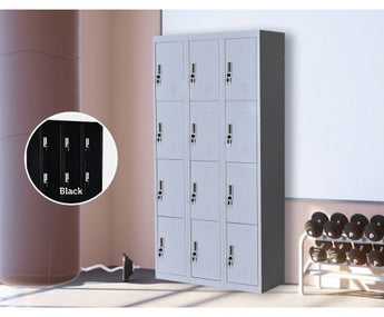12 DOOR GYM LOCKER - GREY