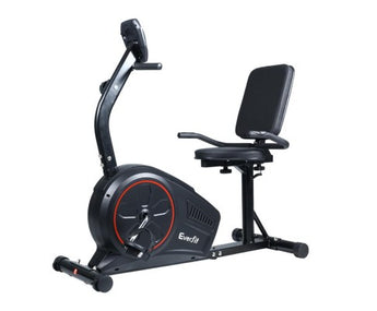 EVERFIT MAGNETIC RECUMBENT EXERCISE BIKE FITNESS TRAINER