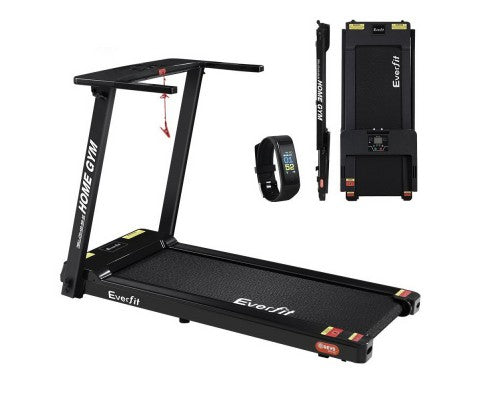 EVERFIT COMPACT PORTABLE TREADMILL 2.5HP WITH BONUS FITNESS TRACKER