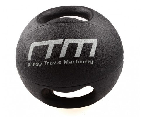 DOUBLE HANDLED RUBBER MEDICINE CORE BALL 10KG