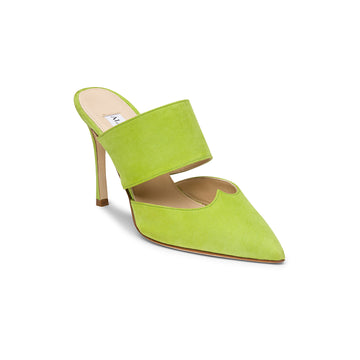 Pointed-toe mules: Mei Green