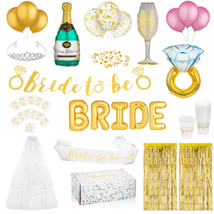 Gold Bridal Shower Kit Complete Set