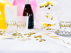 Gold Bridal Cups and Tattoos