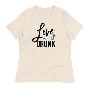 Love Drunk Bachelorette T-Shirt - White Script