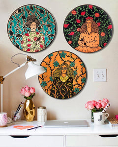 Ceramic Plate Wall Mount painting19