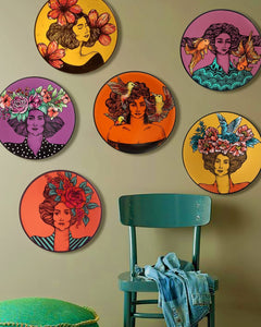 Ceramic Plate Wall Mount Painting21