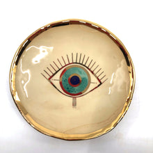 Load image into Gallery viewer, Ceramic Evil Eye Plate Small