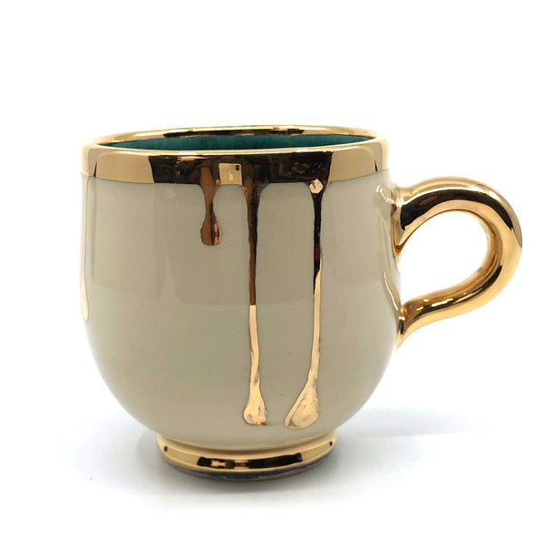Ceramic Mug Dripping Gold