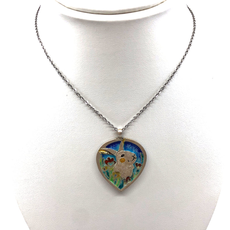 Silver and Enamel Necklace