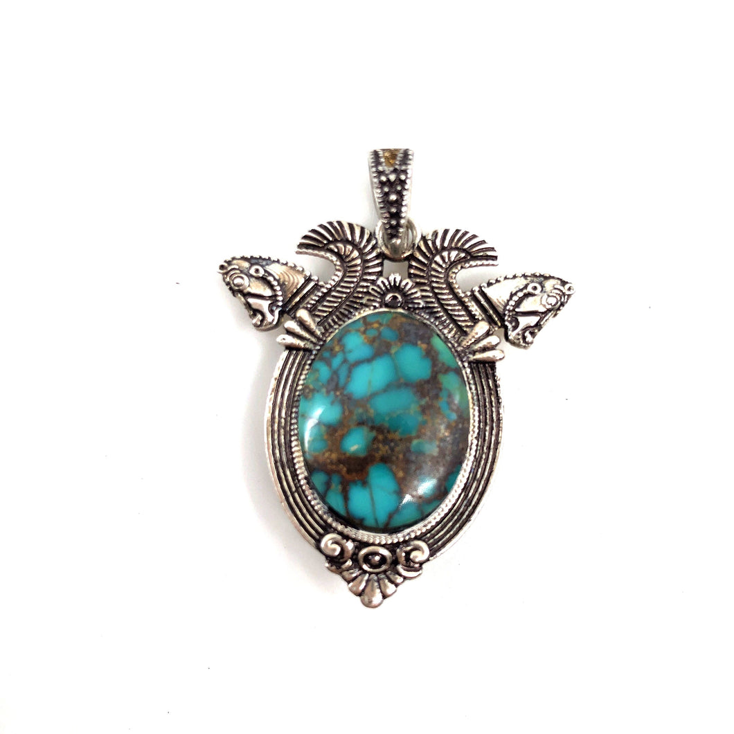 Silver and Stone Pendant