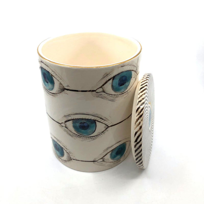 Evil Eye Ceramic Jar