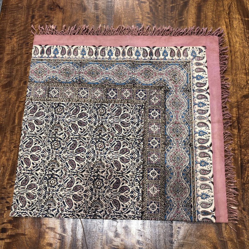 Cotton Table Cloth with Block work 110 x 110