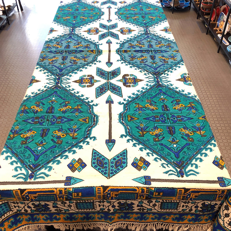 Cotton Table Cloth with Block work 160 x 240