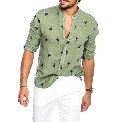 PREMIUM LINEN BUTTON DOWN