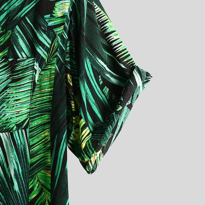 LUSH TROPICAL BUTTON UP