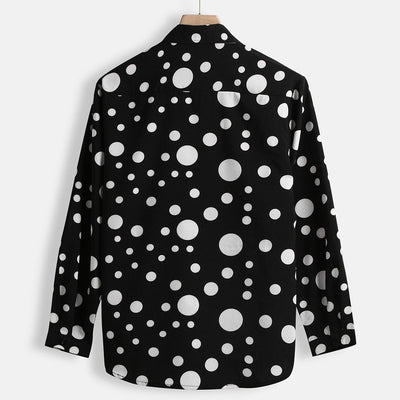 POLKA DOT BUTTON DOWN