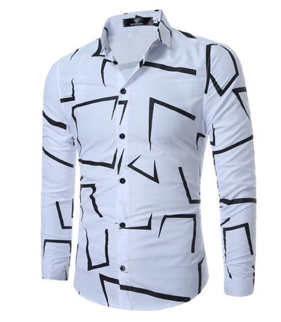 Geometric Designer Dress Shirt
