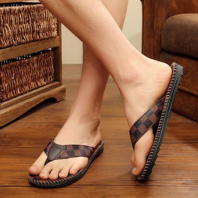 2021 CHECKERED LEATHER SANDAL