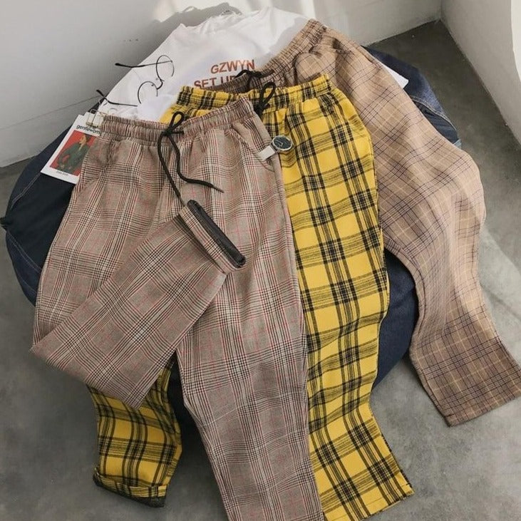 PLAID CASUAL PANTS