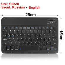 Load image into Gallery viewer, Mini Bluetooth Keyboard Wireless Keyboard for iPad Apple Mac Tablet Keyboard for Phone Universal Support IOS Android Windows