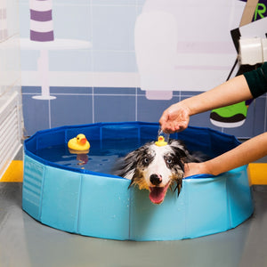 Foldable Dog Pool Pet Bath Summer Outdoor Portable Swimming Pools Indoor Wash Bathing Tub Collapsible Bathtub for Dogs Cats Kids