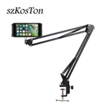Load image into Gallery viewer, 6 to 11inch Mobile phone Tablet Holder Stand For iPad Mini Air Samsung 360 Degree Long Arm Lazy Bed Desk Tablet Mount Support