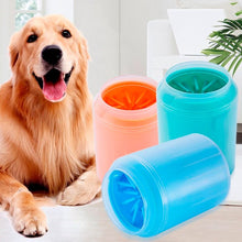 Load image into Gallery viewer, Dog Paw Cleaner Cup Soft Silicone Combs Portable Outdoor Pet towel Foot Washer Paw Clean Brush Quickly Wash Foot Cleaning Bucket
