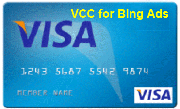 Postpaid Virtual Credit Card (VCC) for Bing Ads