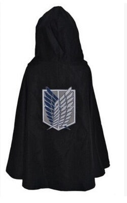 Attack on Titan Cosplay Costume Black buyanimeshirt