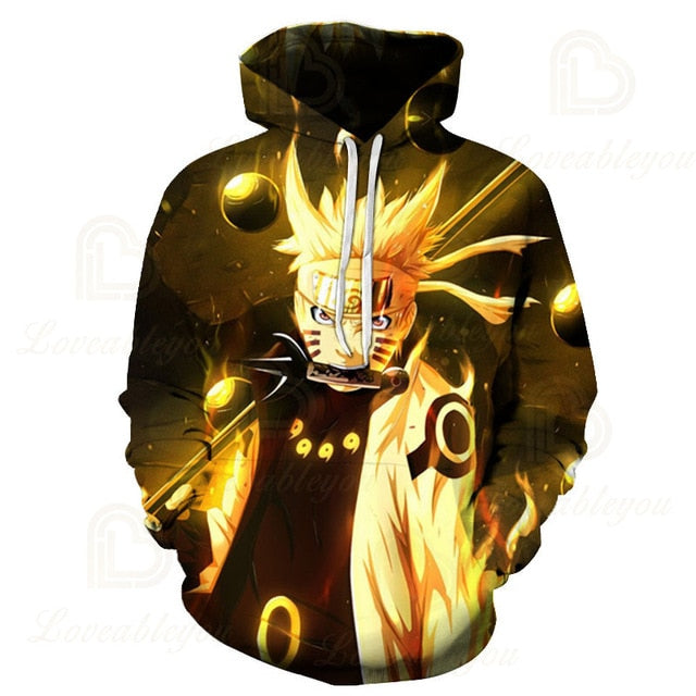 Naruto Shippuden Action Winter 3D Hoodie Buyanimeshirt