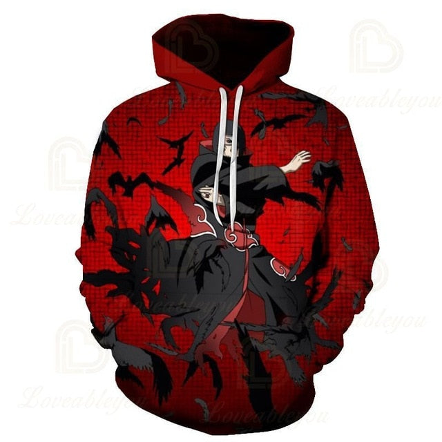 Naruto Shippuden Action Red 3D Hoodie Amazon