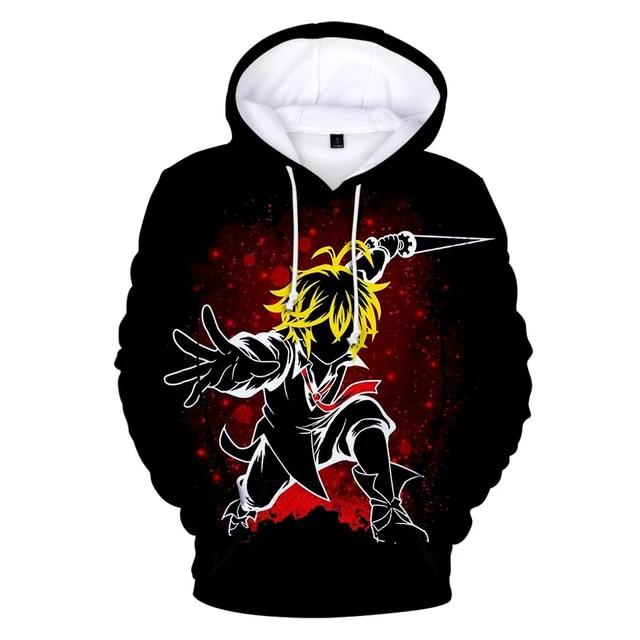 The Seven Deadly Sins Colorful 3D Hoodie Buyanimeshirt
