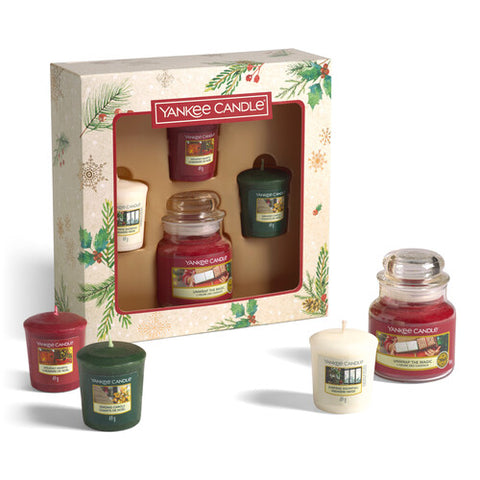 1 Small Jar & 3 Votive Candle Gift Set