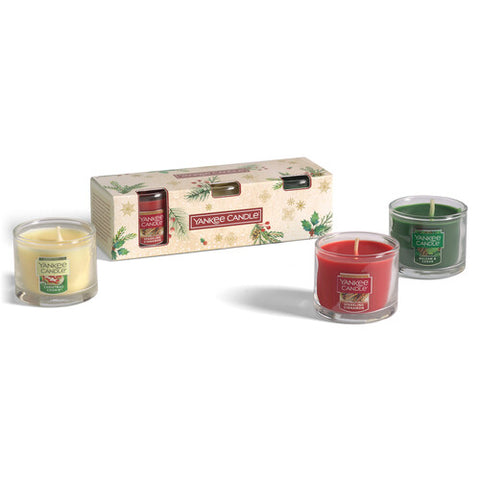 3 Yankee Candle Glass Minis Gift Set