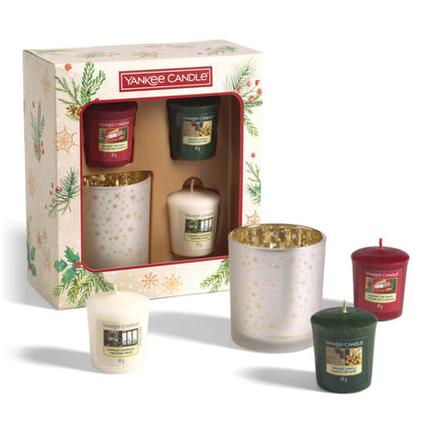 3 Votive Candle 1 Holder Gift Set