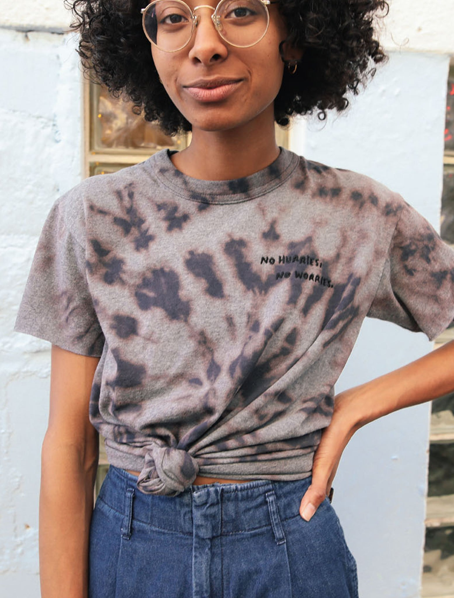 No Hurries, No Worries Tie Dye Tee