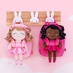 Curly Hair Personalised Ballerina Doll Backpack