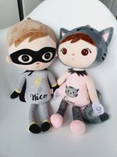 Load image into Gallery viewer, superhero boy doll, cat doll, personalised superhero