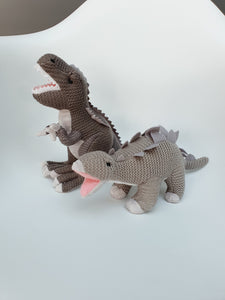 Knitted T-Rex and Stegosaurus freeshipping - Kiddio
