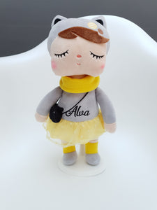 personalised doll metoo cat doll